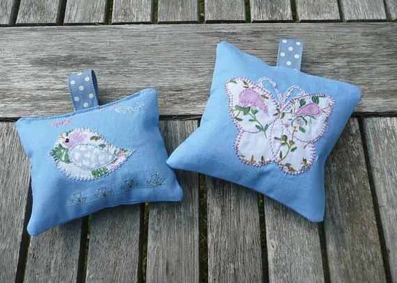 Lavender Sachets Applique Bird Lavender Bag Butterfly