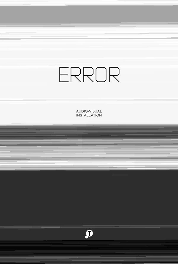 Error audio visual instalation