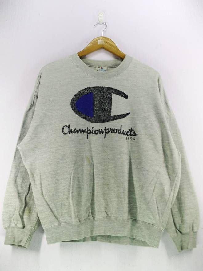 9fa5420e Champion Vintage 90's Champion Products USA Big Logo Spell Out Embroidery  Sweatshirt Jumper Pullover Size Large Size US L / EU 52-54 / 3