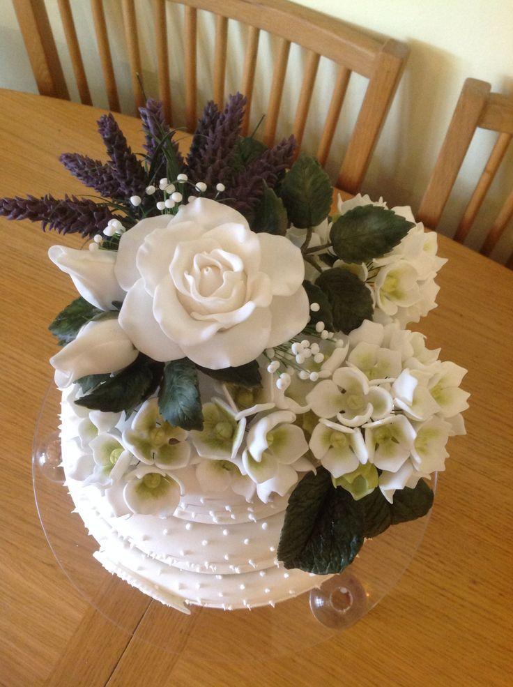 Top of mums birthday cake from Karen's cakes