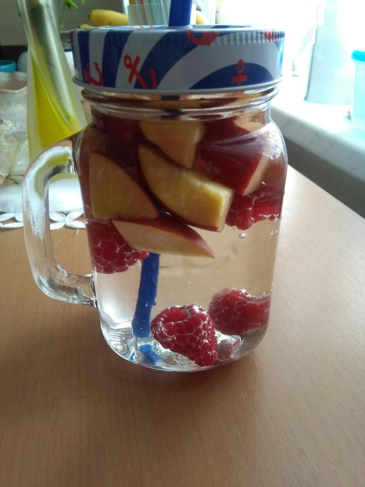 Water with fruits <3