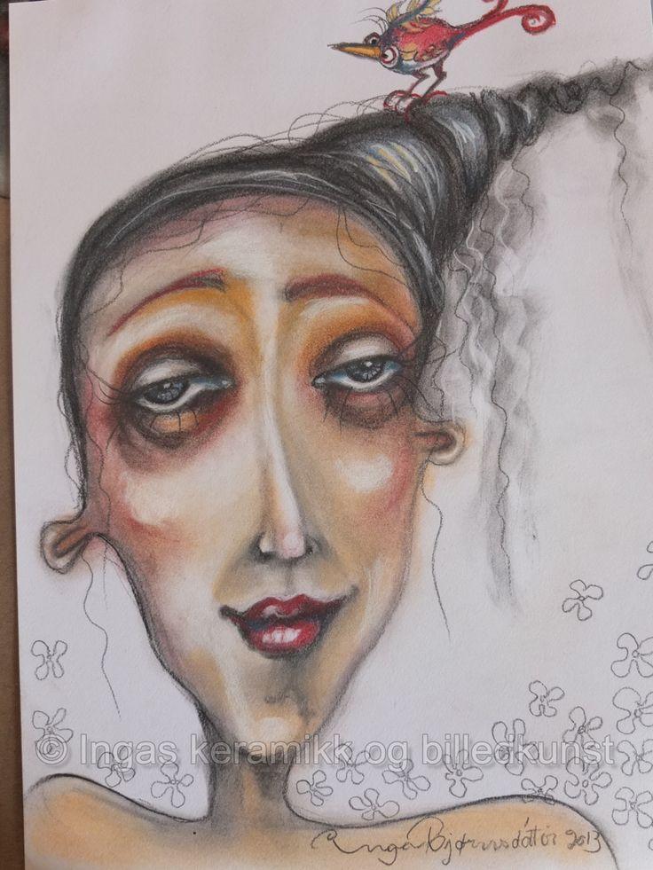pastel på papir av Inga Bjørnsdottir se og lik min facebookside  https://www.facebook.com/ingas.kunst