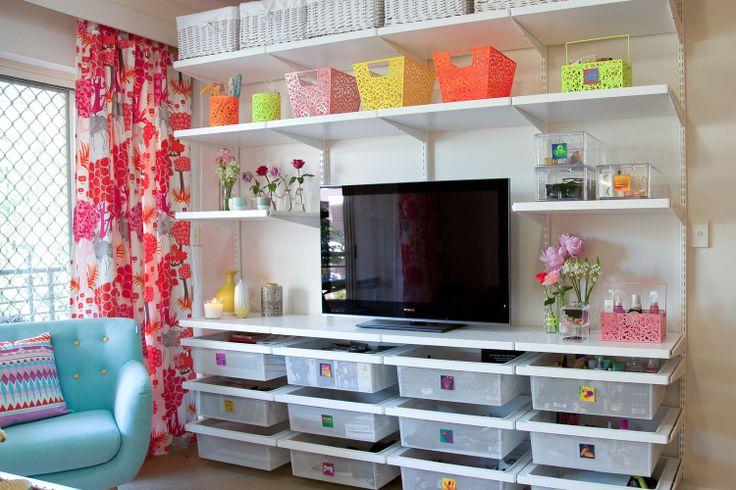 Lounge Room After Shot elfa customised Shelving