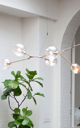 Lindsey Adelman chandelier- This exact one is very expensive. Would love to find something like it