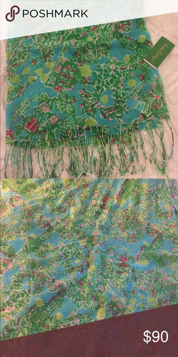 Lilly Pulitzer US Open 2014 Murfee New with tag detached - never worn. No flaws. Lilly Pulitzer Accessories Scarves & Wraps