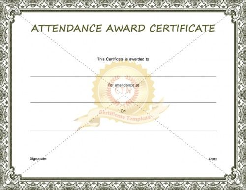 11 best Certificate of Attendance images on Pinterest - attendance certificate template free