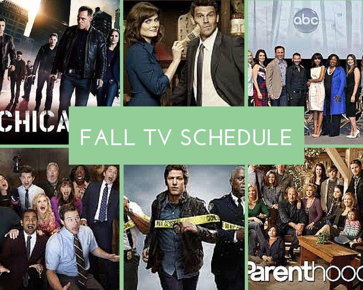 2014 Fall TV Schedule