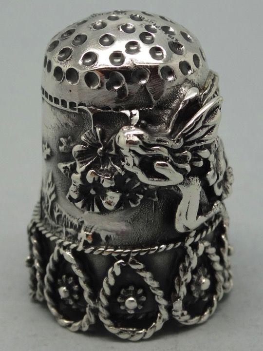Spain. Feliciano Joyeros. Palencia. Silver. 925. Thimble-Dedal-Fingerhut.