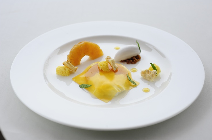Roasted Pineapple, Mascarpone, Passion Fruit, Coconut