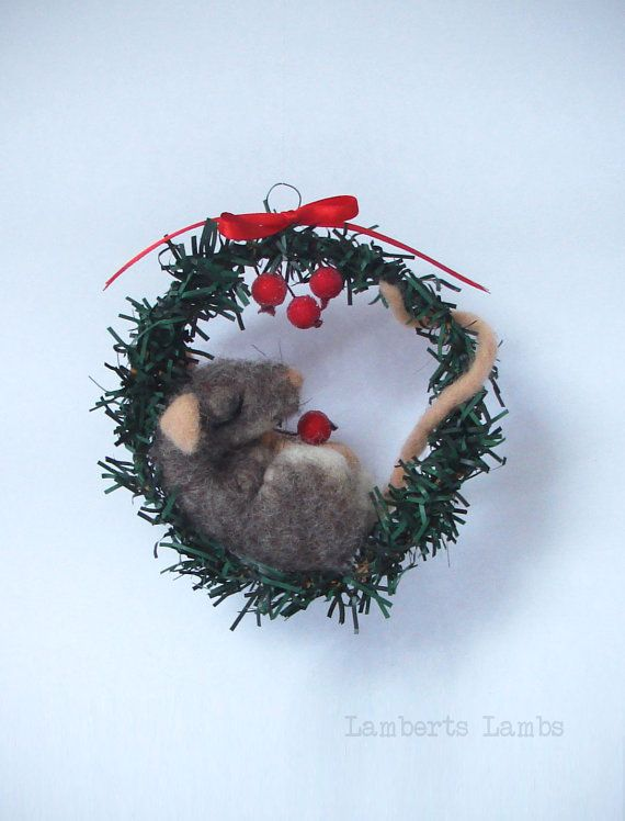 how to make needle felted christmas decorations
