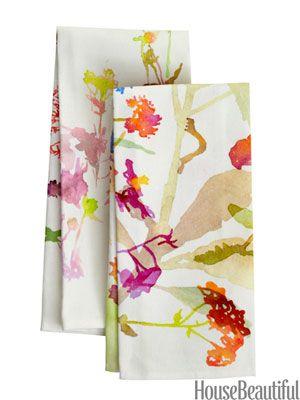 Floral kitchen towels.
