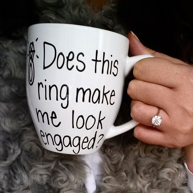 does this ring make my look engaged mug