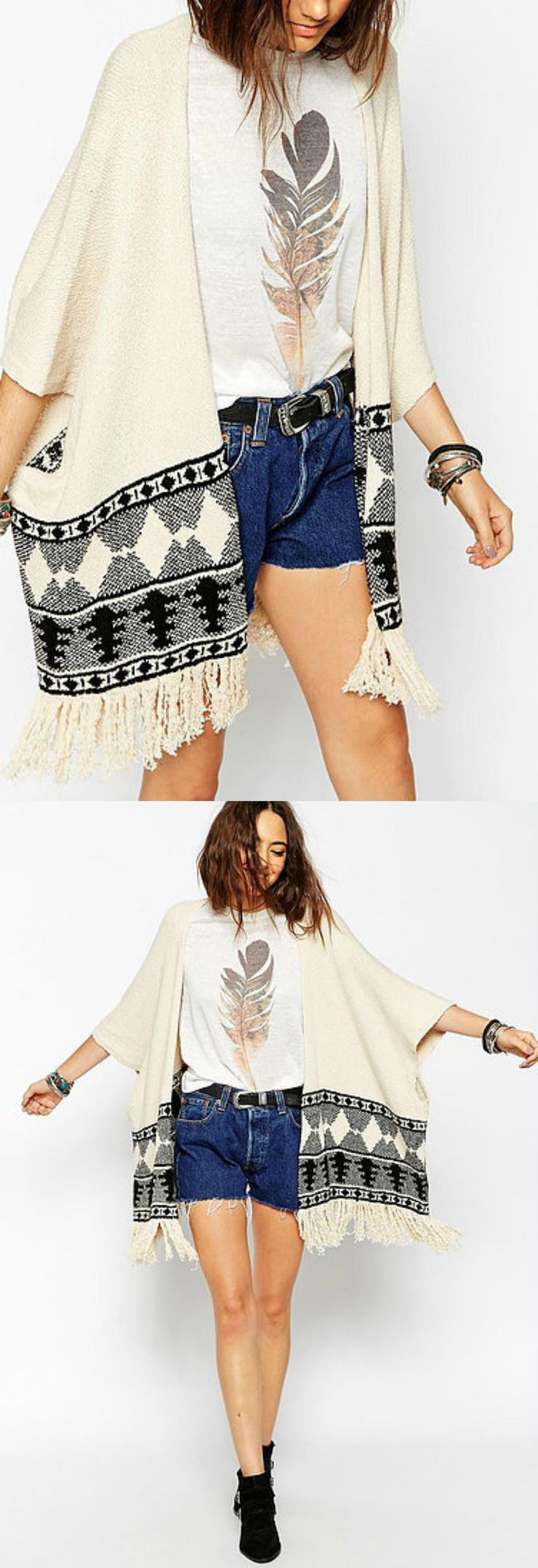A Boho Ethnic Kimono is now available at $36 from Pasaboho. This Boho Coverup exhibit unique tribal patterns. ❤️ Perfect for a casual day outfit. In Love with boho style and embroidery stitches. Free Spirit hippie girls sharing woman outfit ideas. bohemian clothes, cute dresses and skirts. Fashion trend and styles from hippie chic, modern vintage, gypsy style, boho chic, hmong ethnic, street style, geometric and floral outfits.