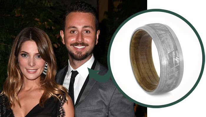 Our Celebrity Wedding Ring Suggestions: Paul Khoury Wedding Band Suggestion Meteorite and Whiskey Barrel