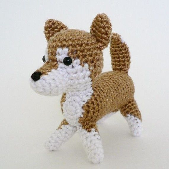 Amigurumi Crochet Puppy Pattern : PDF AmiDogs Shiba Inu amigurumi dog CROCHET PATTERN We ...
