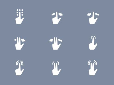 Gestures Icons by Scott Lewis