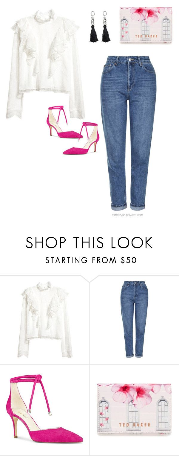 """Untitled #144"" by ramirezyan on Polyvore featuring Topshop, Nine West and Ted Baker"