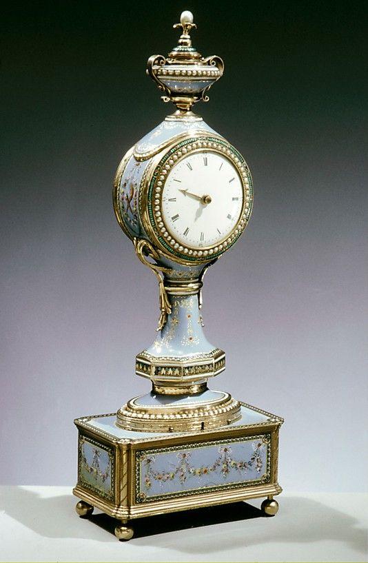 Boudoir clock  Clockmaker: Firm of Jaquet-Droz & Leschot, London and Geneva  (1752–1791)  Date: ca. 1784–91