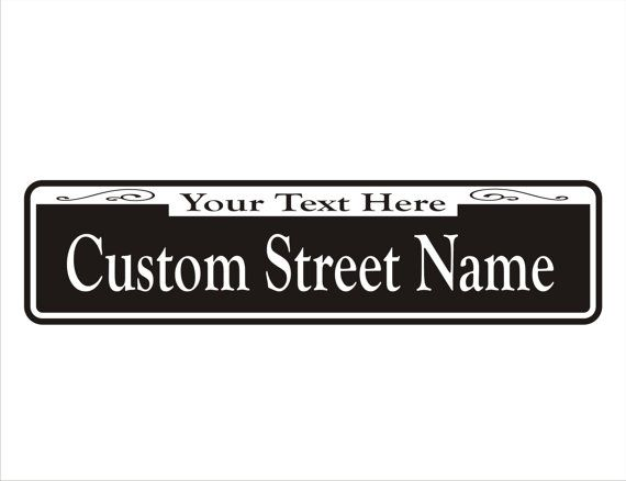 New Orleans Personalized Custom Street Signs 6 x by KrazySignsUSA