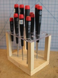 Screwdriver Storage - would also work for carving gouges