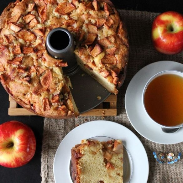 Karina's Jewish Apple Cake Recipe With Sour Cream Recipe — Dishmaps