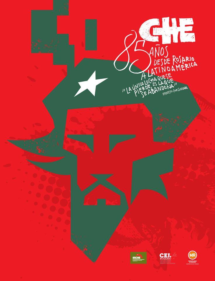 Afiche 02 para concurso natalicio del Che Guevara, Rosario, Argentina.