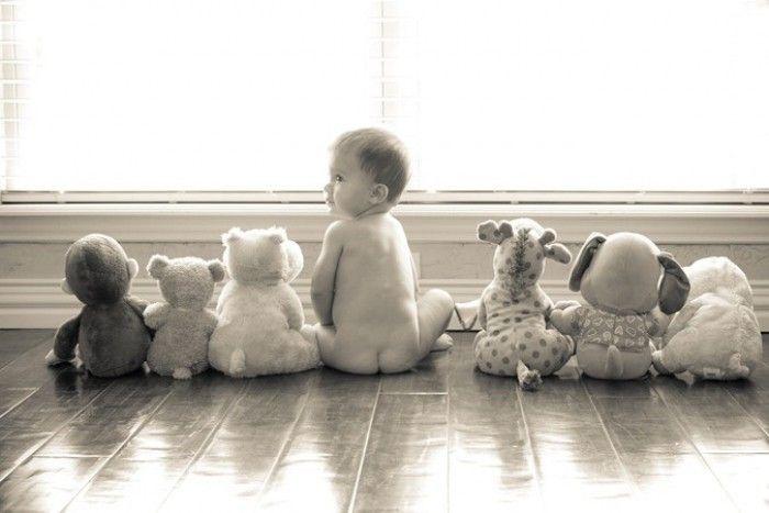 Süßes Babyfoto als Erinnerung für später