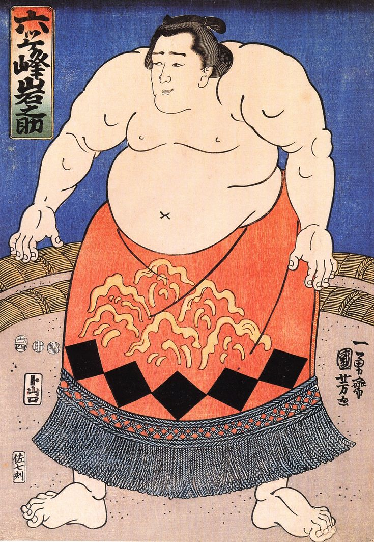 Kuniyoshi Utagawa, The sumo wrestler