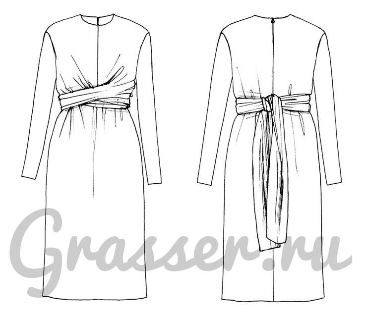 Выкройка платья - №503, магазин выкроек GRASSER.RU #sewing_pattern #pattern #выкройка #выкройки