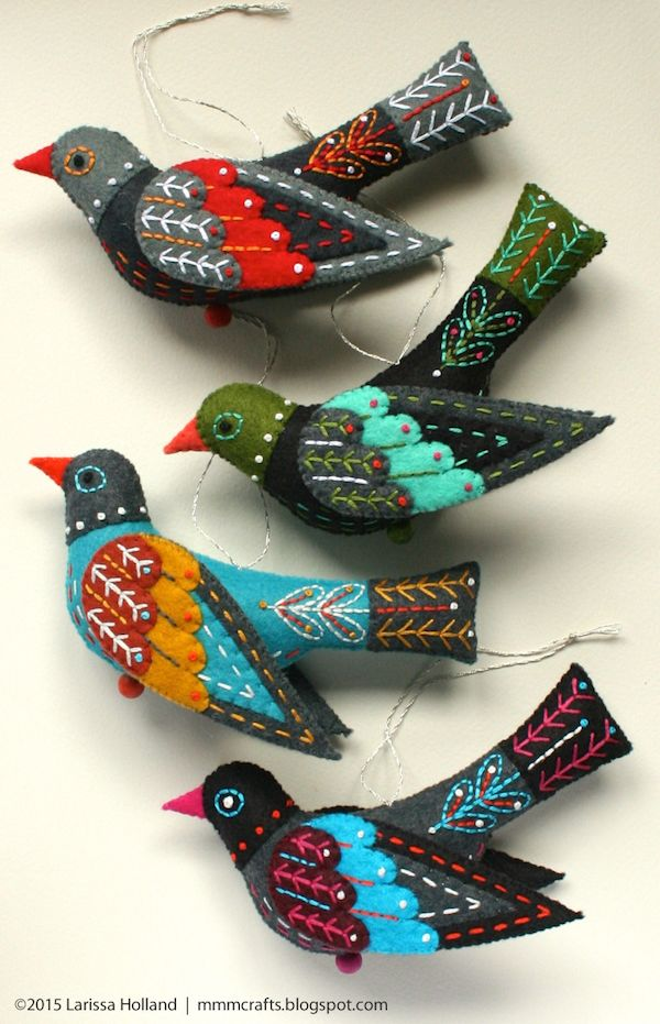 mmmcrafts - Colly Bird ornament. Twelve Days of Christmas