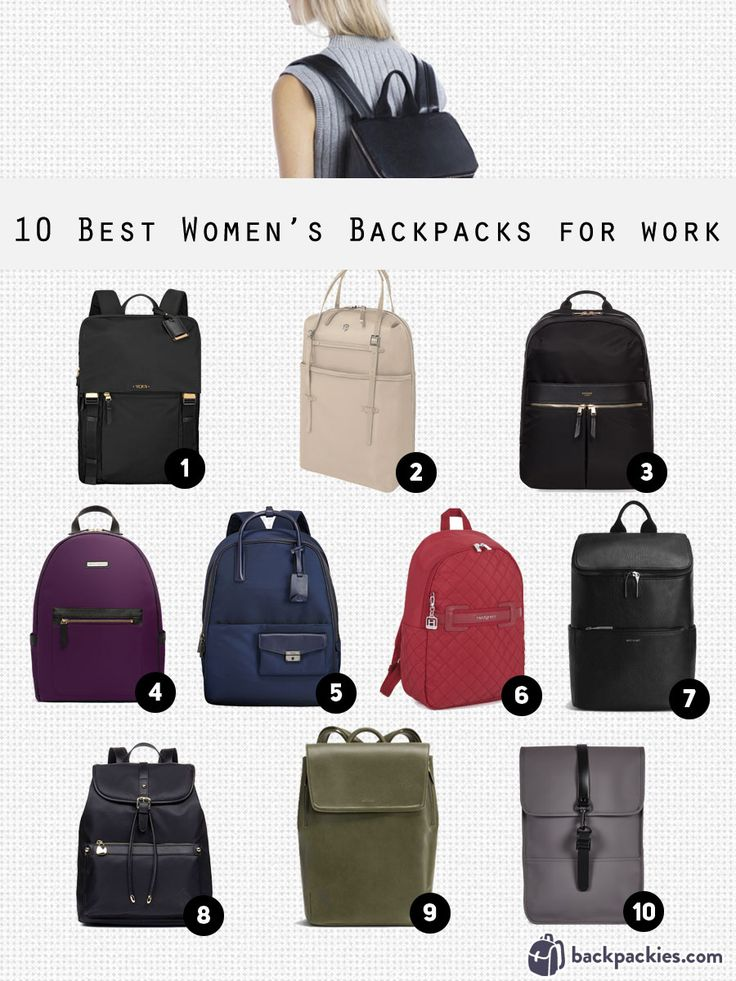 We review the best women's backpack for work. These women's backpacks are  stylish, sophisticated and will smarten up any outfit.
