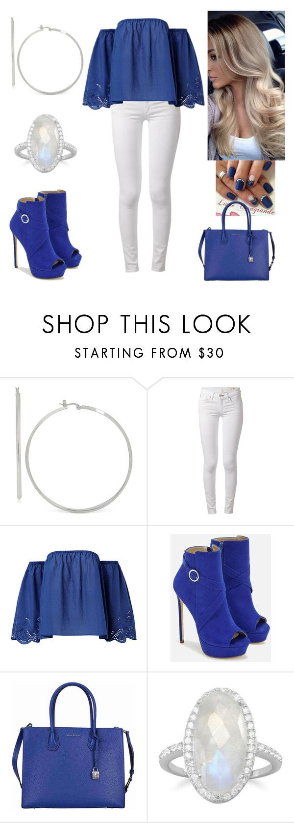 """""""Don't be afraid to fail.Be afraid not to try."""" by paoladouka on Polyvore featuring Touch of Silver, rag & bone, JustFab and Michael Kors"""
