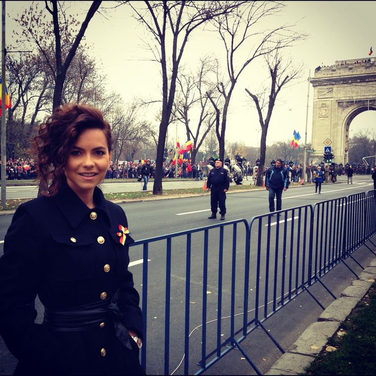 Inna....proud Romanian....at the parade on the 1 set of December!