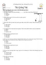 English worksheet: the giving tree