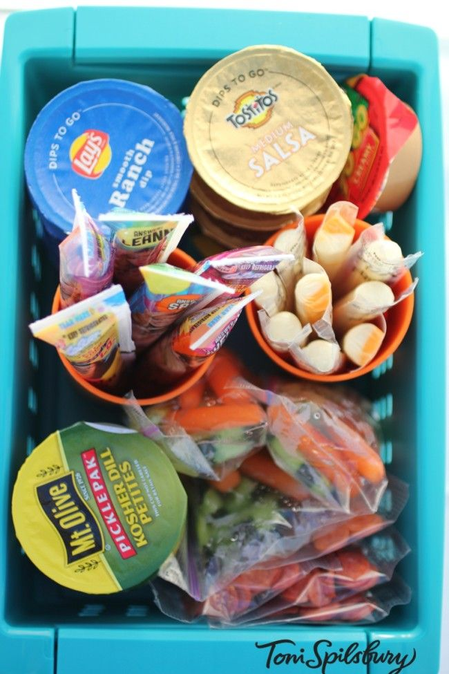 Snack Organizing | Toni Spilsbury For our road trip