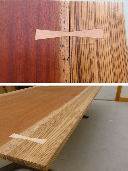 Natural edge padauk and zebrawood semi finished wood slab for Finished wood slabs