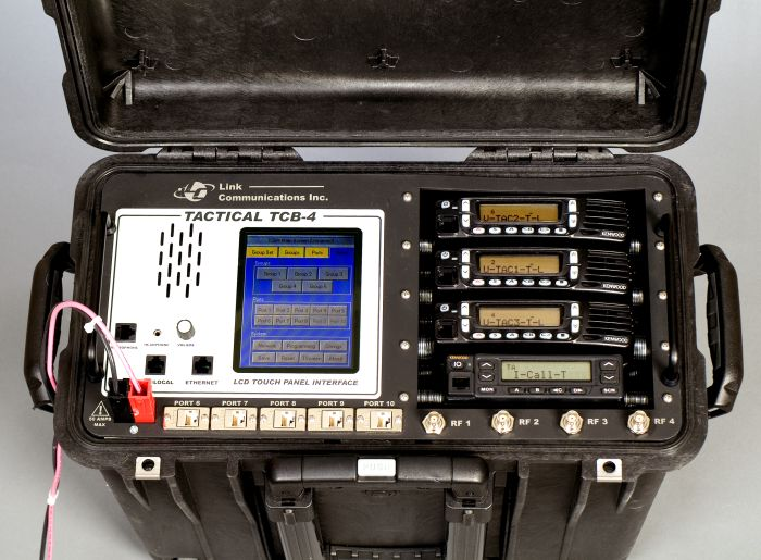 Seamless interoperability with up to five independent radios or communications devices, including cell phones, IP phones, landlines, and nearly any two way radio - TCB-406 --Link Communications