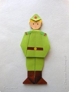 Мастер-класс Поделка изделие 23 февраля День Победы Оригами Солдаты Победы Бумага фото 31