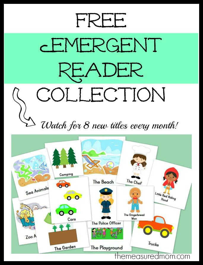 free emergent reader collection the measured mom Free Christmas Emergent Readers (sight word big)
