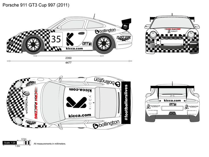 This is for #GTCup 2016. Simple but effective car livery. Porsche 911 GT3.