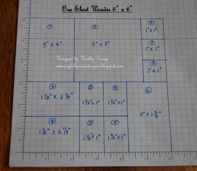 One Sheet Wonder 6x6 - Cutting Layout