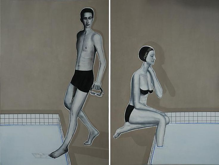 Khaled Takreti, Love Boat, 2011, Acrylic on canvas, 195 x 260 cm