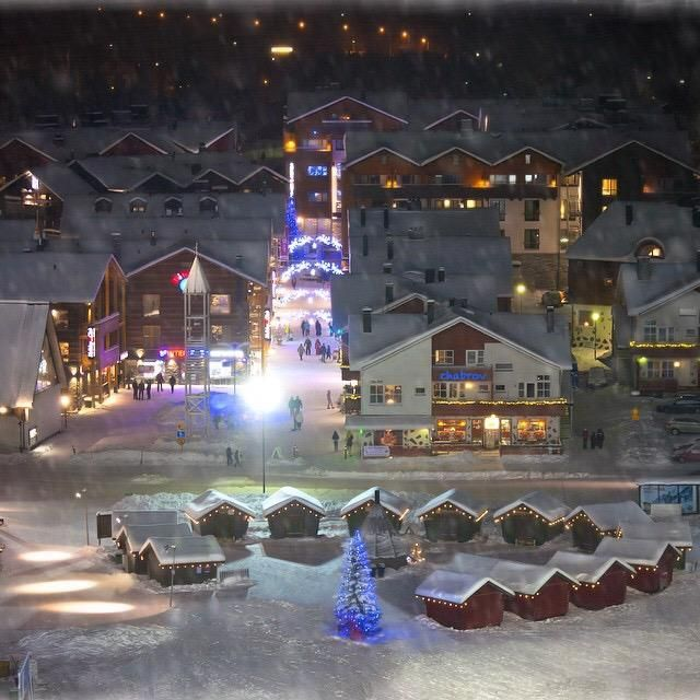 Christmas in Levi, Lapland. Finland