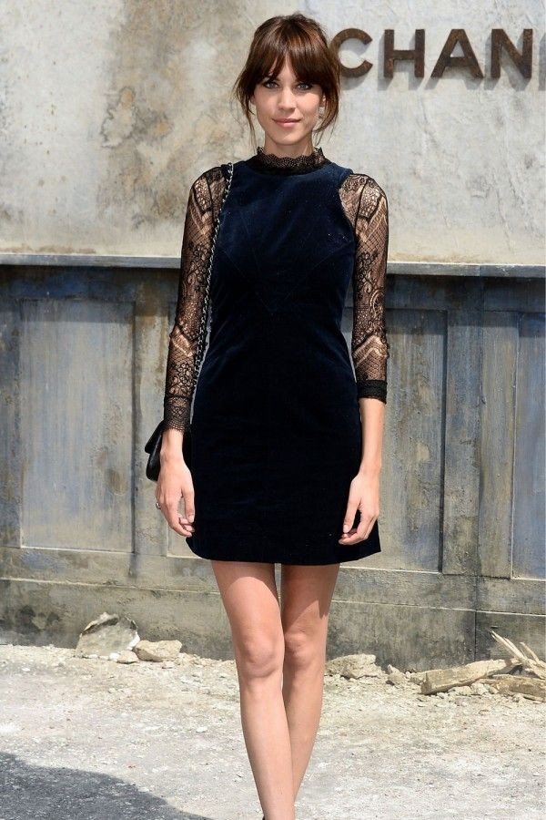 Alexa Chung At The Chanel Haute Couture Show, July 2013