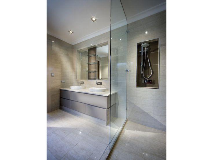 bathroom idea 2 - lights and tiles