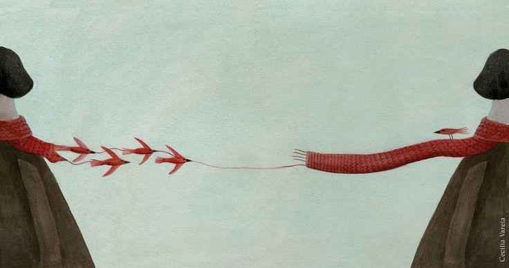 """Cecilia Varela illustration for """"Le Chant des Oiseaux""""."""