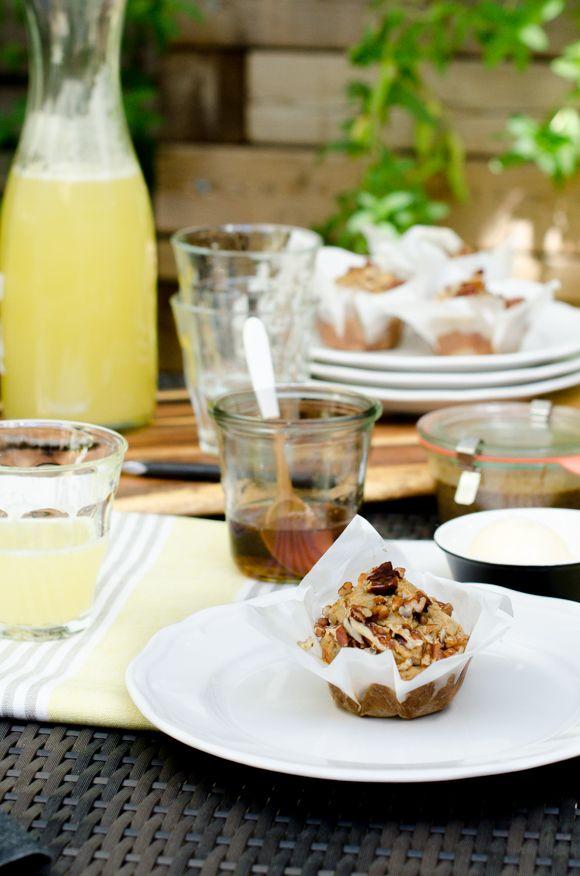 Gluten-Free Sweet Honey Pecan Muffins