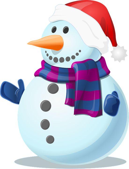 Śnieg, Snowman, Zimno, Zima, Mrożone, Rękawiczki, Szal