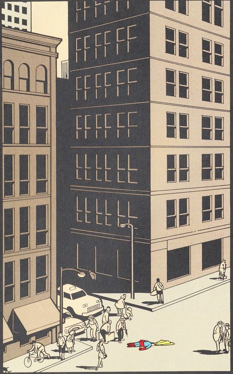 chris ware. Love his precision and clean style!