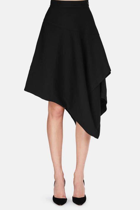 J.W. Anderson — Layered Asymmetric Skirt   Black — THE LINE